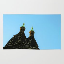 Castle in the city Rug