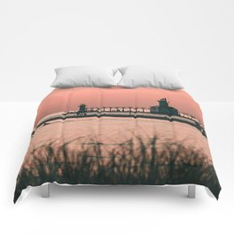 Sunset Lighthouse Comforters