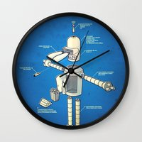 bender Wall Clocks featuring Bender by Enrique Guillamon