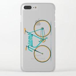 Miami Typo - Bike Clear iPhone Case