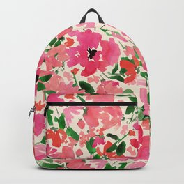 Red Rose Bouquet Backpack