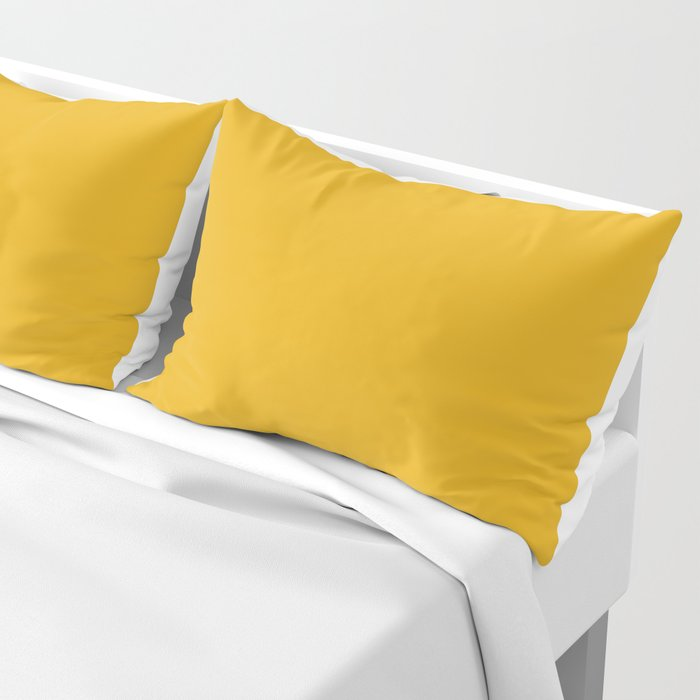 Solid Bright Bee Yellow Color Pillow Sham