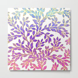 Lovely Soft Pretty Foliage Image Metal Print