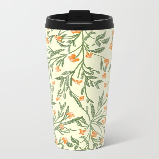 Wonder Garden Pattern Metal Travel Mug