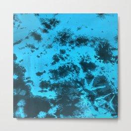 Modern Monochromatic Tie-Dye Metal Print