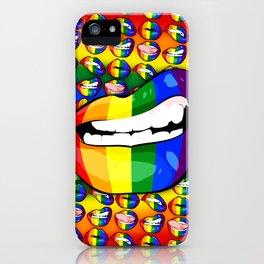 LGBTQ Rainbow Lips Snarl iPhone Case