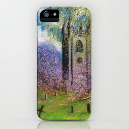 Spring Blossom at St Mary's iPhone Case