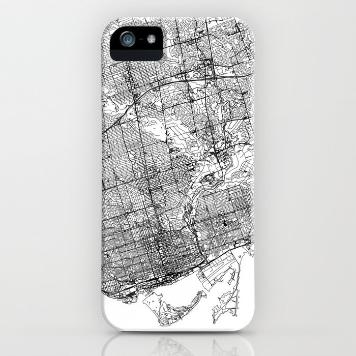 toronto white map iphone case