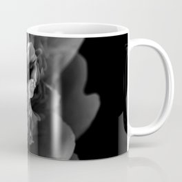 Black and White Summer Peony Coffee Mug