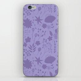 Hand painted ultraviolet modern floral illustration iPhone Skin