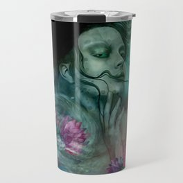 """Sirena between pastel cactus flowers"" Travel Mug"