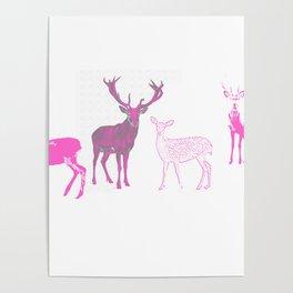 oh deer pink II Poster
