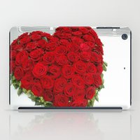 mercedes iPad Cases featuring Heart of red roses by Premium