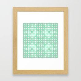Mid Century Modern Pattern 271 Mint Green Framed Art Print