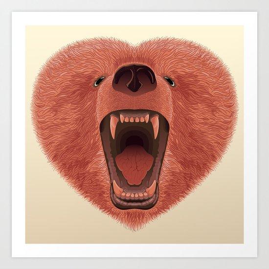 The Bear of love Art Print