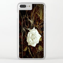 Vintage Rose And Wild Grasses Clear iPhone Case