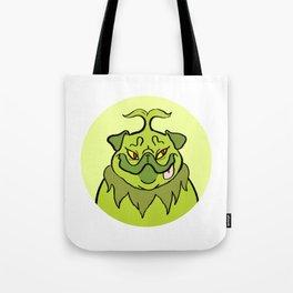 Christmas Nostalgia - Grinch Pug Tote Bag