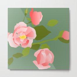 Rose Buds Metal Print