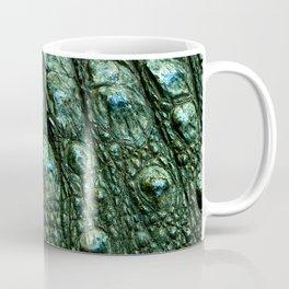 Green Alligator Leather Print Coffee Mug