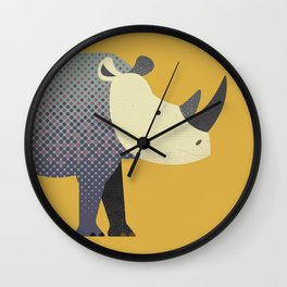 Whimsy Rhinoceros II Wall Clock