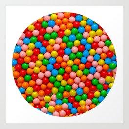 Mini Gumball Candy Photo Pattern Art Print