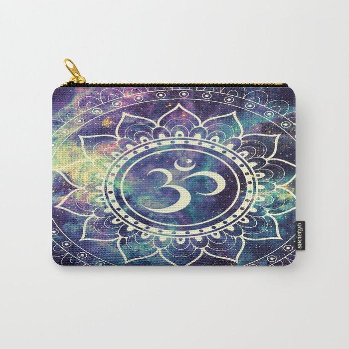 Om Mandala : Deep Pastels Galaxy Carry-All Pouch