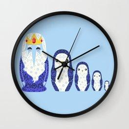 Icy Nesting Dolls Wall Clock