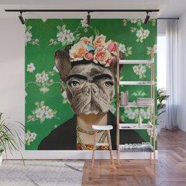 Frida Katy FrenchBulldog Wall Mural