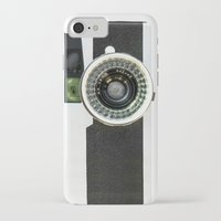 vintage camera iPhone & iPod Cases featuring Vintage camera by cafelab