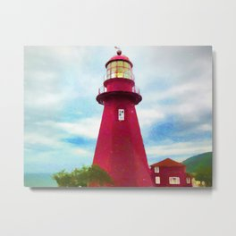 La Martre Lighthouse Metal Print