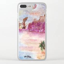 A New World Watercolor Art Illustration Clear iPhone Case