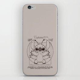 Stitch vitruvien iPhone Skin
