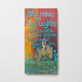 .wherever she goes. Metal Print