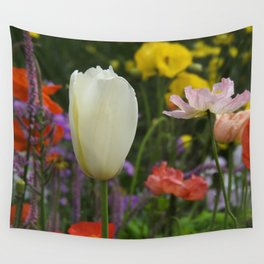 White Tulip Wall Tapestry