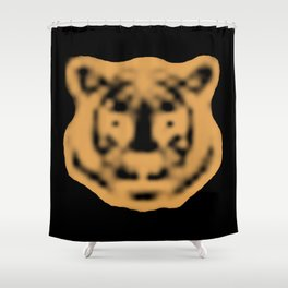 Pixel Tiger of Tomorrow's Download Shower Curtain