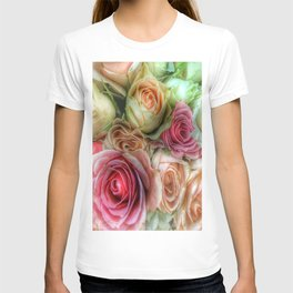 Roses - Pink and Cream T-shirt