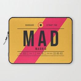 Luggage Tag E - MAD Madrid Barajas Spain Laptop Sleeve