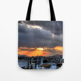 Sunset In Athens Tote Bag