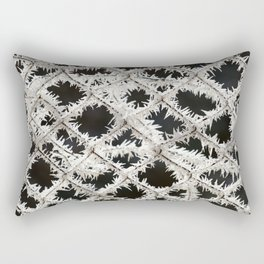 Frosted Fence Rectangular Pillow