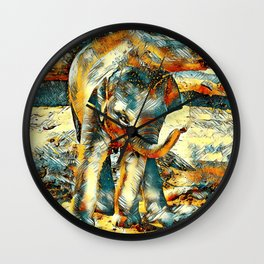AnimalArt_Elephant_20170901_by_JAMColorsSpecial Wall Clock