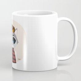 Hipster Raccoon Coffee Mug