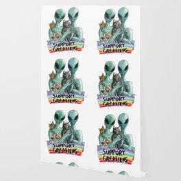 support gay aliens Wallpaper