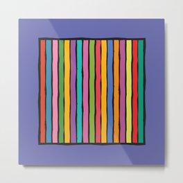 dp203-8 Colorful Stripes Metal Print