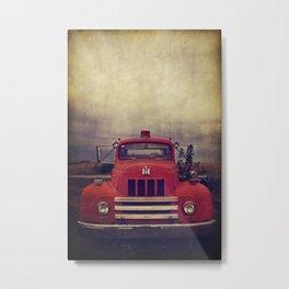 Old Fire Truck Metal Print