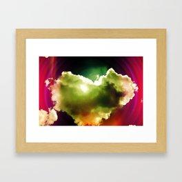 Heart Cloud Framed Art Print