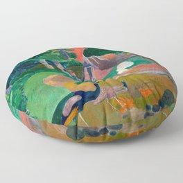Paul Gauguin - Landscape with Peacocks - Matamua - Matamoe - Le Paysage avec des Paons Floor Pillow
