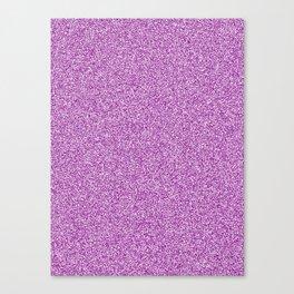 Melange - White and Purple Violet Canvas Print