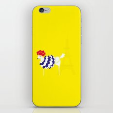French Poodle iPhone & iPod Skin