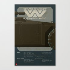 M577 Armored Personnel Carrier Tritych II/III Aliens APC Canvas Print