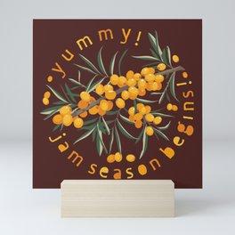Yummy! Jam season begins! Sea buckthorn Mini Art Print